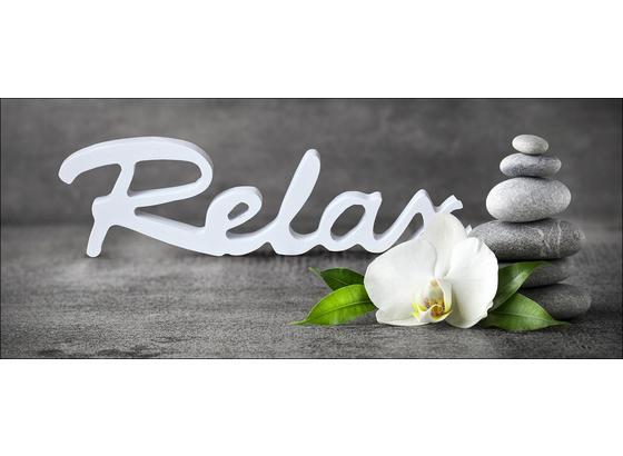 Dekopaneel Relax With Stones & Flowers - Multicolor, Holz/Holzwerkstoff (49/117cm)