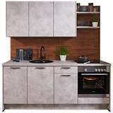 Küchenblock Santiago - Hellgrau/Grau, MODERN, Holzwerkstoff (204cm) - Vertico