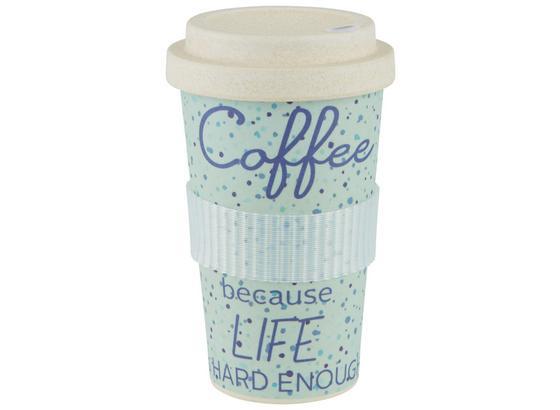 Hrnček Coffee-to-go Annie - prírodné farby, kompozitné drevo/plast (9/16cm) - Mömax modern living