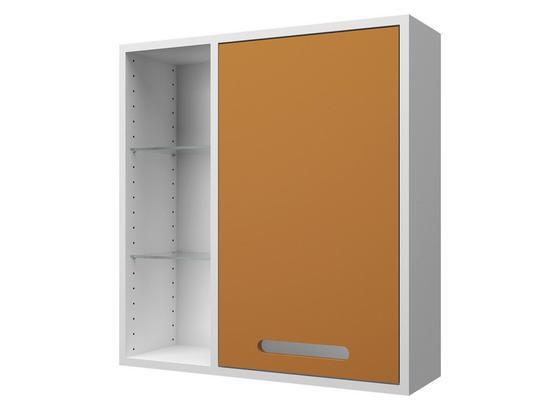Hängeschrank Malmö 60 cm Weiß/ Curry - Currygelb/Weiß, Basics, Glas/Holzwerkstoff (60/64/20cm)