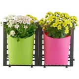 Wand-pflanztopfset 8er Set - Pink/Grün, KONVENTIONELL, Kunststoff