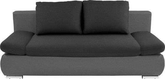 Sofa Cannes - Dunkelgrau/Anthrazit, MODERN, Textil (202/97/71cm)