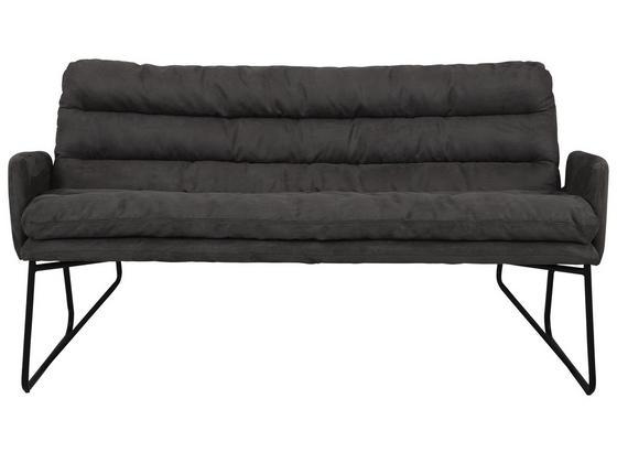 Lavica Elements - čierna/sivá, Moderný, kov/textil (176/87/76cm) - Mömax modern living