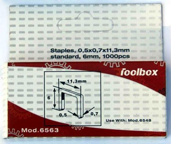 Tűzőkapocs 6563 - konvencionális (8x8x2cm)
