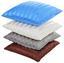 Zierkissen Mia 45x45 cm - Blau/Beige, KONVENTIONELL, Textil (45/45cm) - Ombra