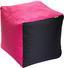 Taburet Cortona - ružová/antracitová, textil (50/50/50cm)