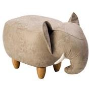 Kinderhocker Elefant B: 65cm Grau - Naturfarben/Grau, KONVENTIONELL, Textil (65/34/36cm) - MID.YOU