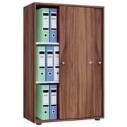 Aktenschrank Versperrbar Lona XL Nuss Dekor B 70 cm - Nussbaumfarben, Basics, Holzwerkstoff (70/105/40cm) - MID.YOU