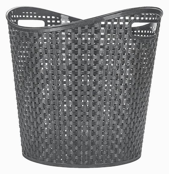 Universalkorb Rattan 27 Liter - Grau, KONVENTIONELL, Kunststoff (38,5/37cm) - Plast 1