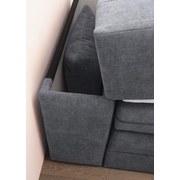 Boxspringbett mit Bettkasten& Topper 120x200cm Bilbao, Grau - Anthrazit, KONVENTIONELL, Holzwerkstoff/Textil (120/200cm) - Carryhome
