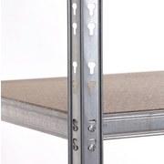 Schwerlastregal Strong 120/180/50 Grau - Grau, KONVENTIONELL, Holzwerkstoff/Metall (120/180/50cm)