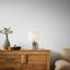 Lampa Stolní Ilias, Max. 1x28watt - bílá/barvy stříbra, Lifestyle, textil/keramika (24/37cm) - Premium Living