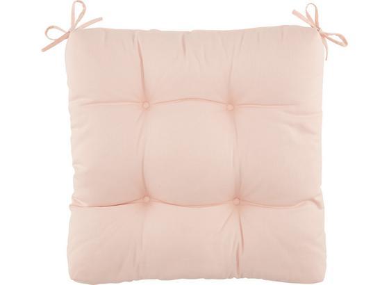 Sedák Elli -top- - růžová, textil (40/40/7cm) - Based