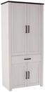 Šatní Skříň Provence - bílá/barvy wenge, Moderní, dřevěný materiál (98/200/42cm) - James Wood