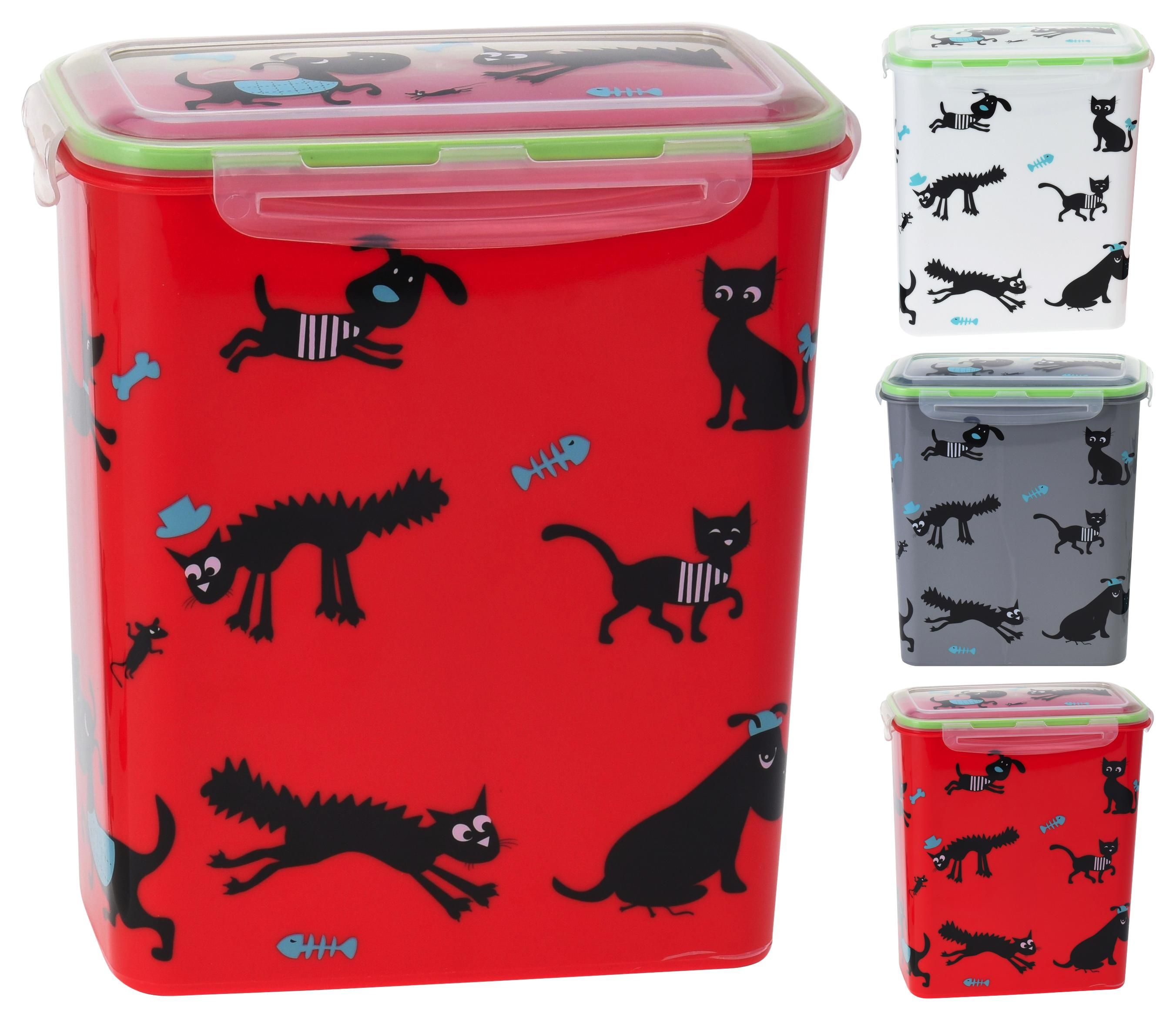 Futterbehälter Lisa - Rot/Weiß, Basics, Kunststoff (19/11/21cm)