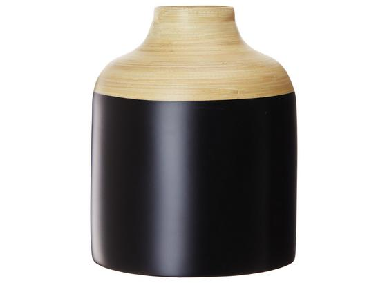 Dekorační Váza Ninke - černá, dřevo (15/19cm) - Mömax modern living