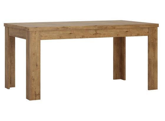 Jídelní Stůl Havana - barvy dubu/černá, kompozitní dřevo (140/180/77,1/80cm)