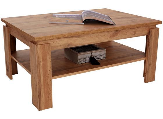 Konferenční Stolek Nizza 2 - barvy dubu, Moderní, kompozitní dřevo (100/45/60cm)