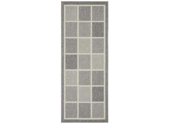 Koberec Tkaný Na Plocho Minnesota 1 - šedá, Moderní, textil (80/200cm) - Modern Living