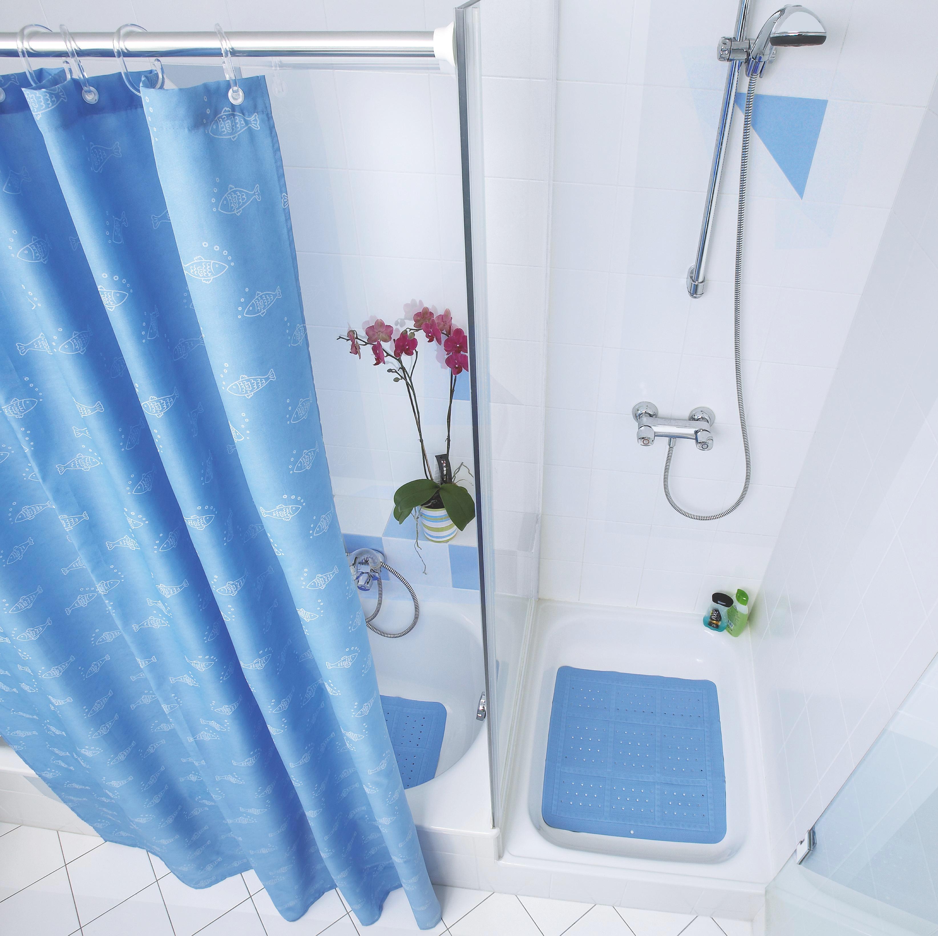 Zuhanyfüggöny Rúd Renate - ezüst színű, konvencionális, fém (125cm)