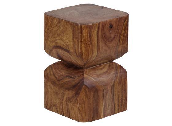 Beistelltisch In Sanduhr-Form, Sheeshamholz Massiv - Sheeshamfarben, Design, Holz (30/30/45cm) - Livetastic