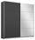 Schwebetürenschrank Belluno 181 cm Grau/spiegel - Dunkelgrau, MODERN, Holzwerkstoff (181/210/62cm)
