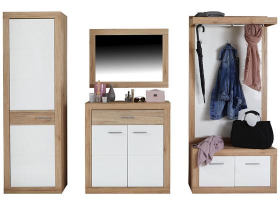 Odporúčaná Kombinácia Skrine Malta - San Remo 3 - farby dubu/biela, Moderný, kompozitné drevo (255/197/36cm)