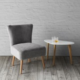 Kreslo Laura - sivá, Moderný, drevo/textil (62/83/62cm) - Mömax modern living