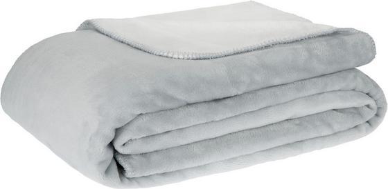 Deka Xxl Like Oboustranná - bílá/šedá, Romantický / Rustikální, textil (220/240cm) - MÖMAX modern living