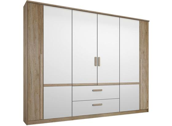 Skříň Bernau 226 - bílá/barvy dubu, Moderní, kompozitní dřevo (226/212/56cm)