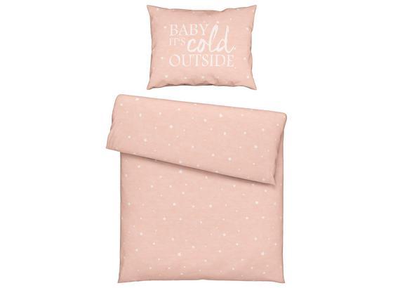 Povlečení Baby Rosa 140x200cm - růžová, Romantický / Rustikální, textil (140/200cm) - Mömax modern living