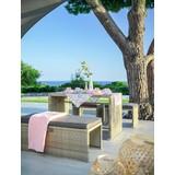 Multifunkční Zahradní Nábytek Mykonos - antracitová/hnědá, kov/textil - Modern Living
