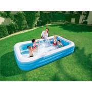 Kinderschwimmbecken Family Deluxe 305x183x56cm 54009 - Blau/Weiß, Kunststoff (305/183/56cm) - Bestway