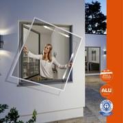 Insektenschutzgitter Rahmenfenster 100x120 cm - Weiß, KONVENTIONELL, Kunststoff/Metall (100/120cm)