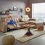 Konferenční Stolek Django - černá/barvy akácie, Lifestyle, kov/dřevo (55/50/55cm) - Premium Living