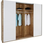 Schwebetürenschrank Beluga - Eichefarben/Weiß, MODERN, Holzwerkstoff (270/226/61cm)