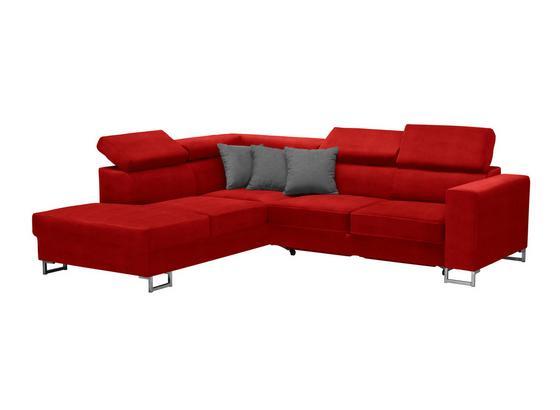 Wohnlandschaft in L-Form California 230x250cm - Edelstahlfarben/Rot, MODERN, Textil (230/250cm) - Luca Bessoni