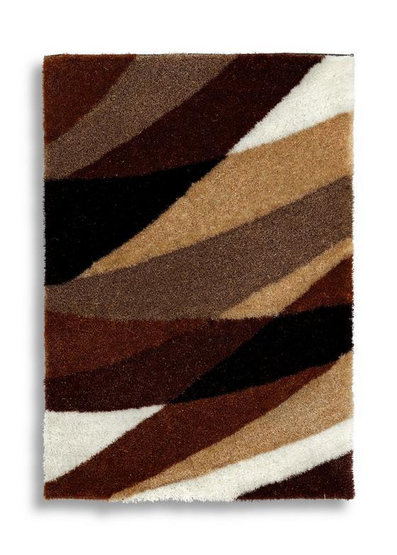 Hochflorteppich Vera 120x170 cm - Beige/Braun, Textil (120/170cm) - Luca Bessoni