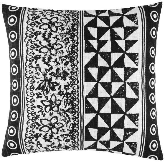 Polštář Ozdobný Harare 1 - černá/přírodní barvy, Lifestyle, textil (45/45cm) - Mömax modern living