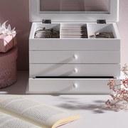 Krabička Na Šperky Julie - biela, kompozitné drevo/textil (25/17/15cm) - Mömax modern living