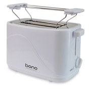 Toaster Only - Weiß, KONVENTIONELL, Kunststoff/Metall (24,6/14,1/17,2cm) - Bono
