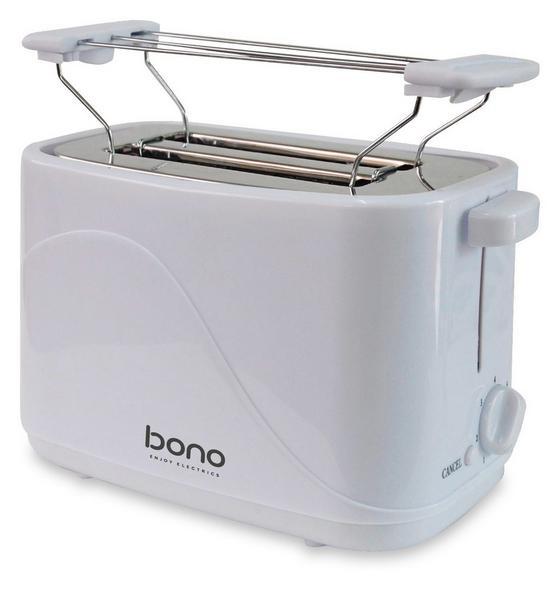 Toaster Only - Weiß, KONVENTIONELL, Kunststoff/Metall (24,6/14,1/17,2cm) - Bono