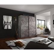 Schwebetürenschrank Belluno B:181cm Stone Dekor - Grau, MODERN, Holzwerkstoff (181/230/62cm)