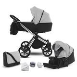 Kinderwagenset Life B: 57 cm Grau - Chromfarben/Anthrazit, Basics, Textil/Metall (57/118/105cm) - Knorr