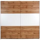 Schwebetürenschrank Devon - Eichefarben/Weiß, KONVENTIONELL, Holzwerkstoff (215/210/60cm)