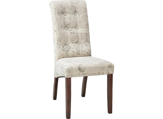 Stolička Selena Premium - sivá/krémová, Romantický / Vidiecky, drevo (48/102/50cm)