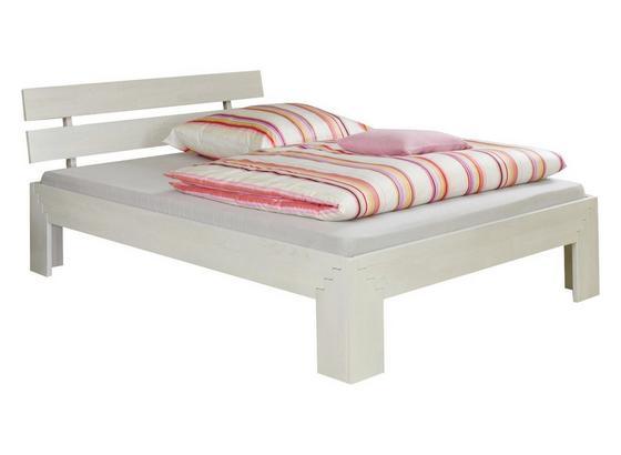Futonbett Jasmina 90x200 Buche/Weiß - Buchefarben/Weiß, Design, Holz (90/200cm)