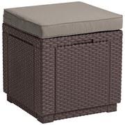 Hocker Cube - Braun, MODERN, Kunststoff (42/39/42cm) - ALLIBERT