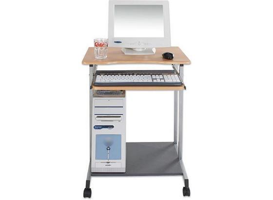 Számítógép Asztal Print - Bükk, modern, Műanyag/Fém (60/75/48cm)