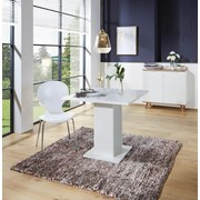 Stuhl Basic Weiß - Chromfarben/Weiß, KONVENTIONELL, Holz/Metall (45/88/50cm)